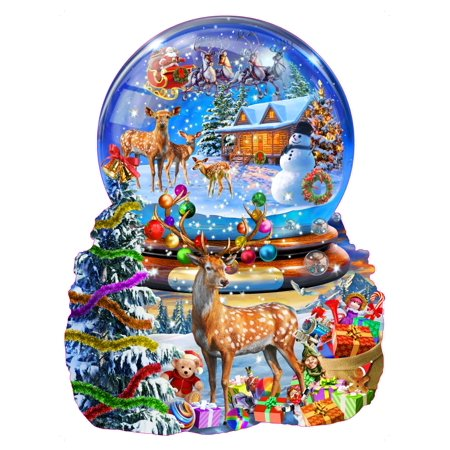 Christmas Snow Globe Stretched Canvas - Adrian Chesterman (9 x 4)](Personalized Snow Globes)