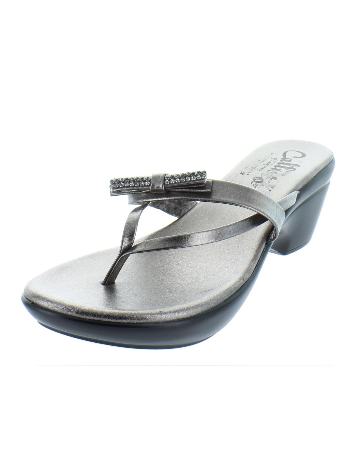 c9a6b03a0 Callisto - Callisto of California Womens Lassye Metallic Thong Wedge Sandals  - Walmart.com