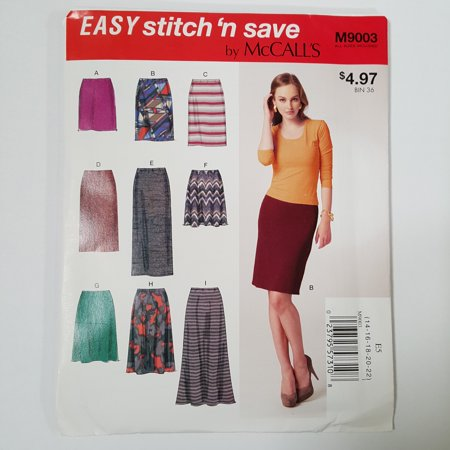 McCall Pattern Easy Stitch 'n Save Misses' Skirt Pattern, 1 Each