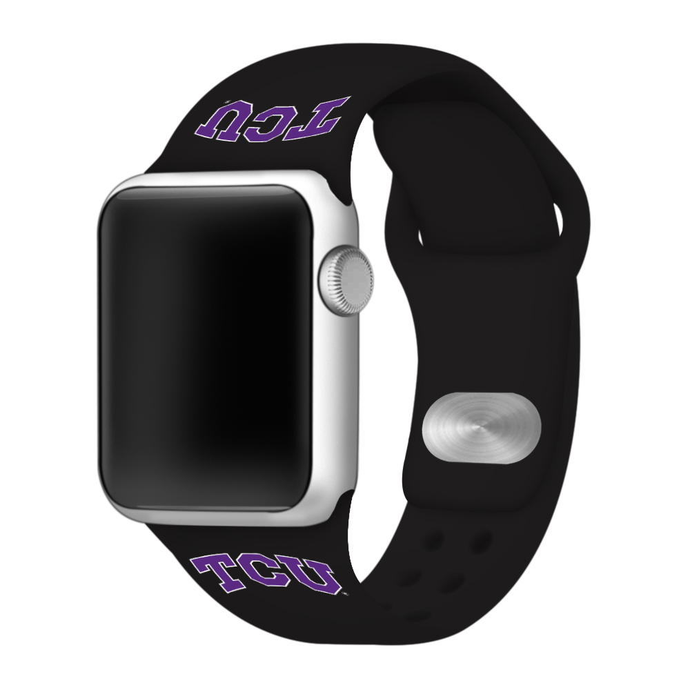 Texas Christian Horned Frogs Sport Band Compatible with Apple Watch - 42mm BLK