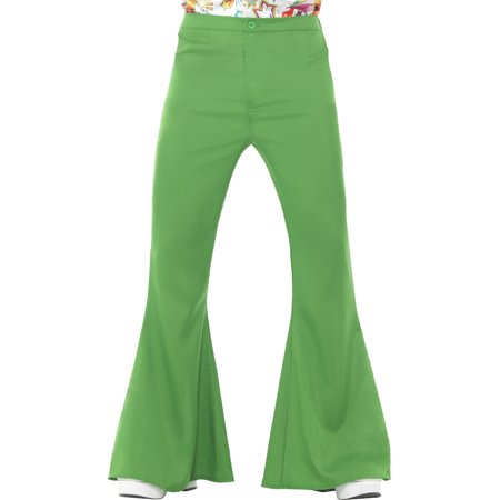 Men's 70s Groovy Disco Fever Flared Green Pants Costume Medium 38-40](Men Disco Pants)