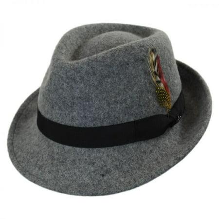 41dba7fcdbf7a0 Jaxon Hats - Detroit Wool Felt Trilby Fedora Hat - Flannel - L - Flannel -  Walmart.com
