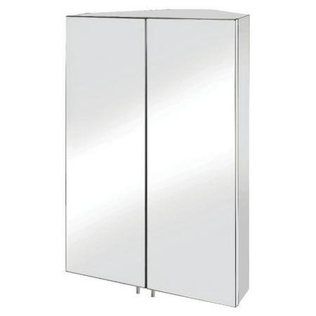 Croydex Avisio Double Door 17.72W x 27.56H in. Surface Mount Corner Medicine Cabinet Deal