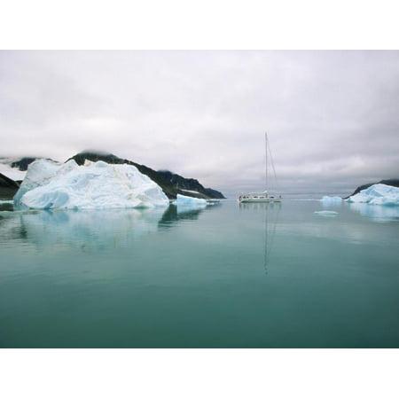 Sailboat Cruising the Arctic Print Wall Art By Onne van der (Best Cruising Sailboat For Single Hand)