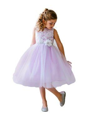 b55e88ab0 Product Image Efavormart Glamorous and Lace tulle Dress with Flower  Accented Belt Birthday Girl Dress Junior Flower Girl