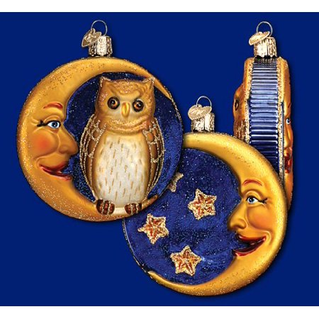 Old World Christmas Halloween Ornaments Sale (OWL & Crescent Moon Classic Vintage-style Halloween Ornament By Old World)