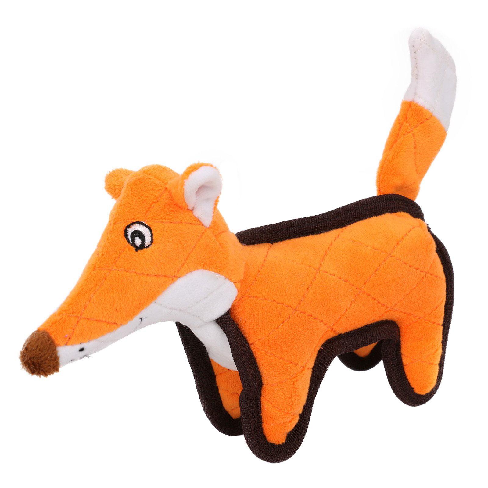 Pet Life Foxy-Tail Plush Animal Chew Dog Toy