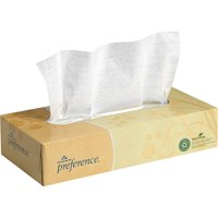 Georgia-Pacific Preference Flat Box Facial Tissue, White, 1 Box (Quantity)