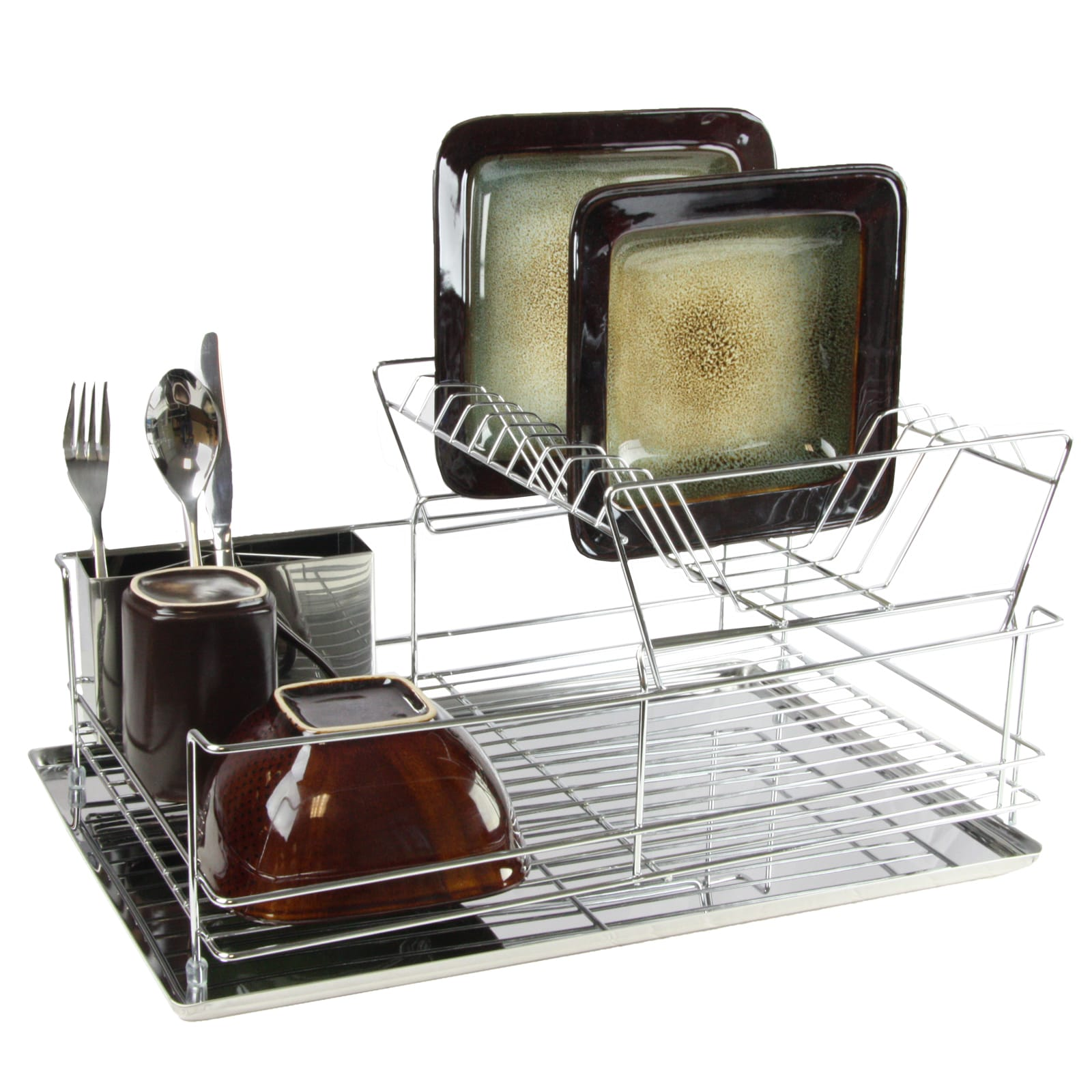 Mega Chef 15.5 Inch Stainless Iron Shelf Dish Rack