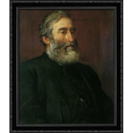 Portrait of the reverend Harry Jones 28x34 Large Black Ornate Wood Framed Canvas Art by George Frederick -