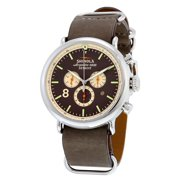 Shinola The Runwell Sport Chrono Brown Gray Dial Graystone Leather Mens Watch S0100074