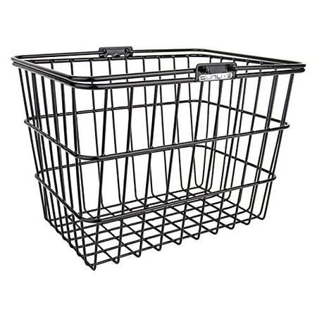 Standard Wire Lift-Off Basket w/ Bracket, Black, Powder
