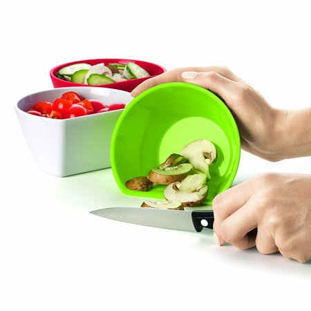 Cuisipro (4 Piece) Plastic Meal Prep Bowls Small Reusable Containers Nesting Measuring Bowl Set ()