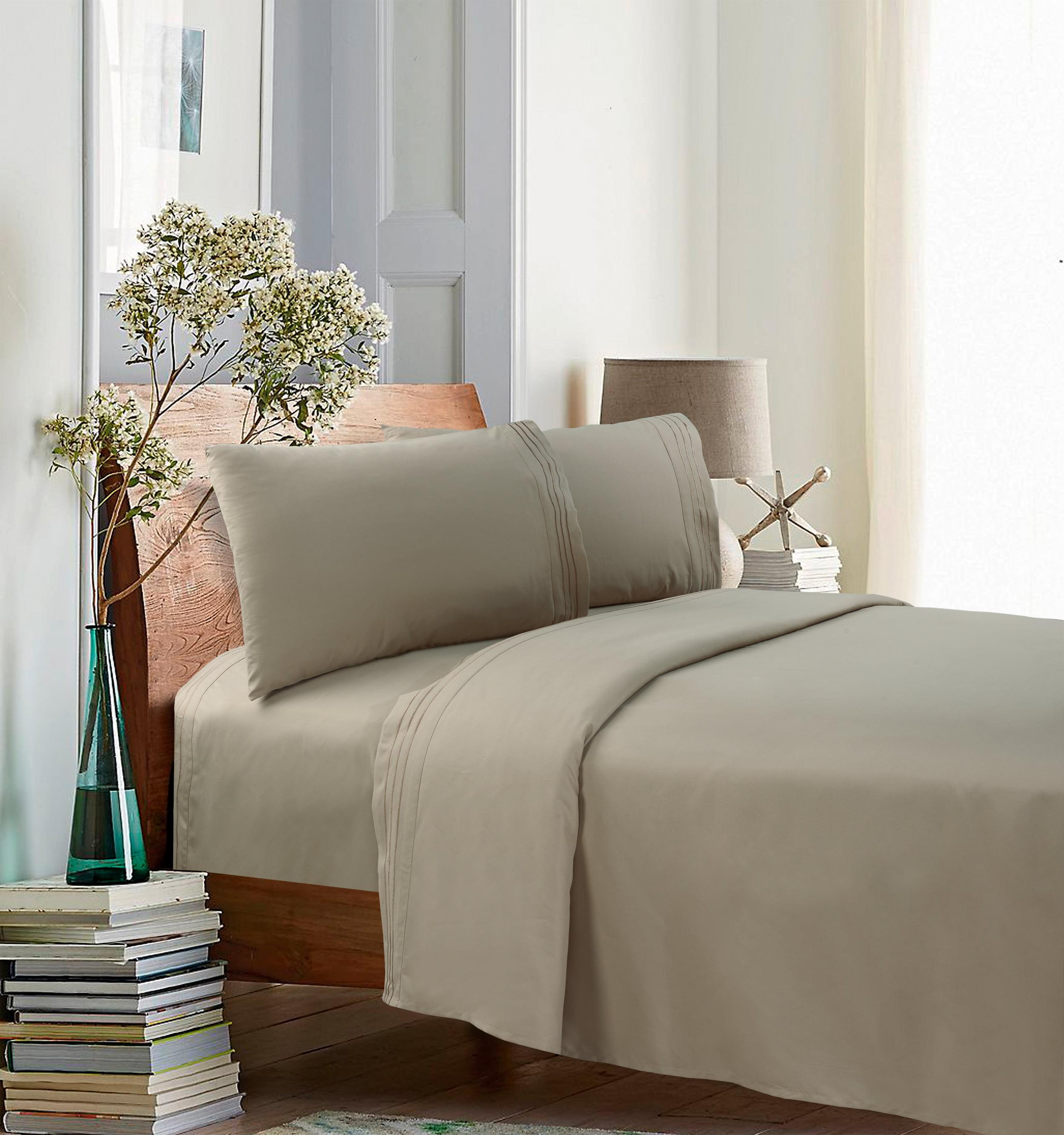 Mason Beige Sheet Ensemble Set Fitted Flat /& Pillow Cases Standard Hospital Bed