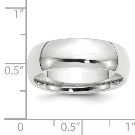 14k White Gold 7mm Comfort Fit Wedding Ring Band Size 11.50 Classic Domed Cf Style Mm B Width Fine Jewelry For Women Gifts For Her - image 5 of 7