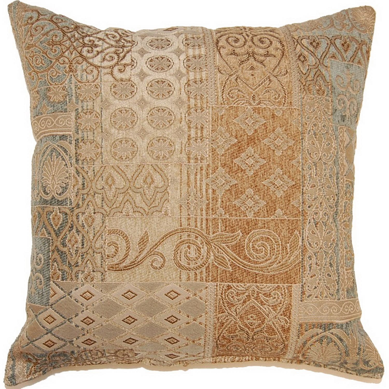Fox Hill Trading Danville Sandalwood 17-inch Throw Pillows (Set of 2)