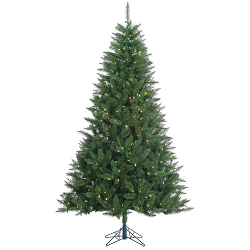 The Holiday Aisle Kennedy 7.5' Green Fir Artificial Christmas Tree with 500 LED White Lights with Stand