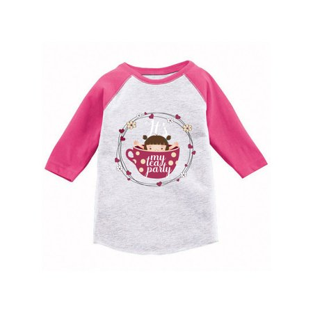 Awkward Styles Tea Party Youth Raglan Cute Tea Party Gifts It's My Tea Party Jersey Shirts for Girls My Tea Party Baseball T shirts Themed Party Cute Birthday Gifts for Girls](Baseball Theme)