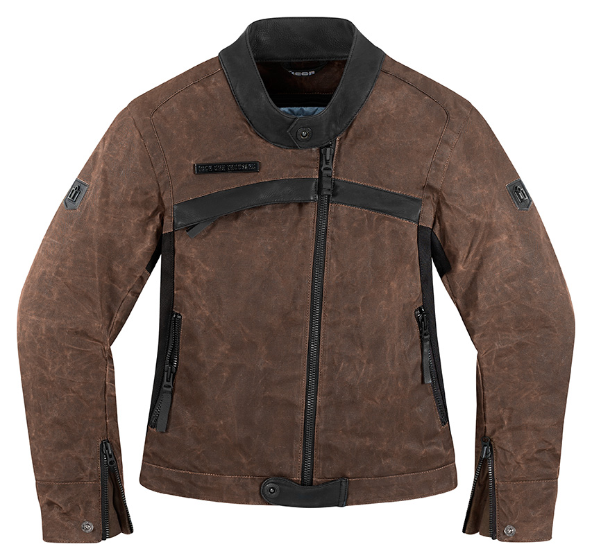 Icon 1000 Hella Womens Jacket Brown LG