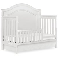Evolur Convertible Crib Toddler Guard Rail in Silver Pearl Shimmer