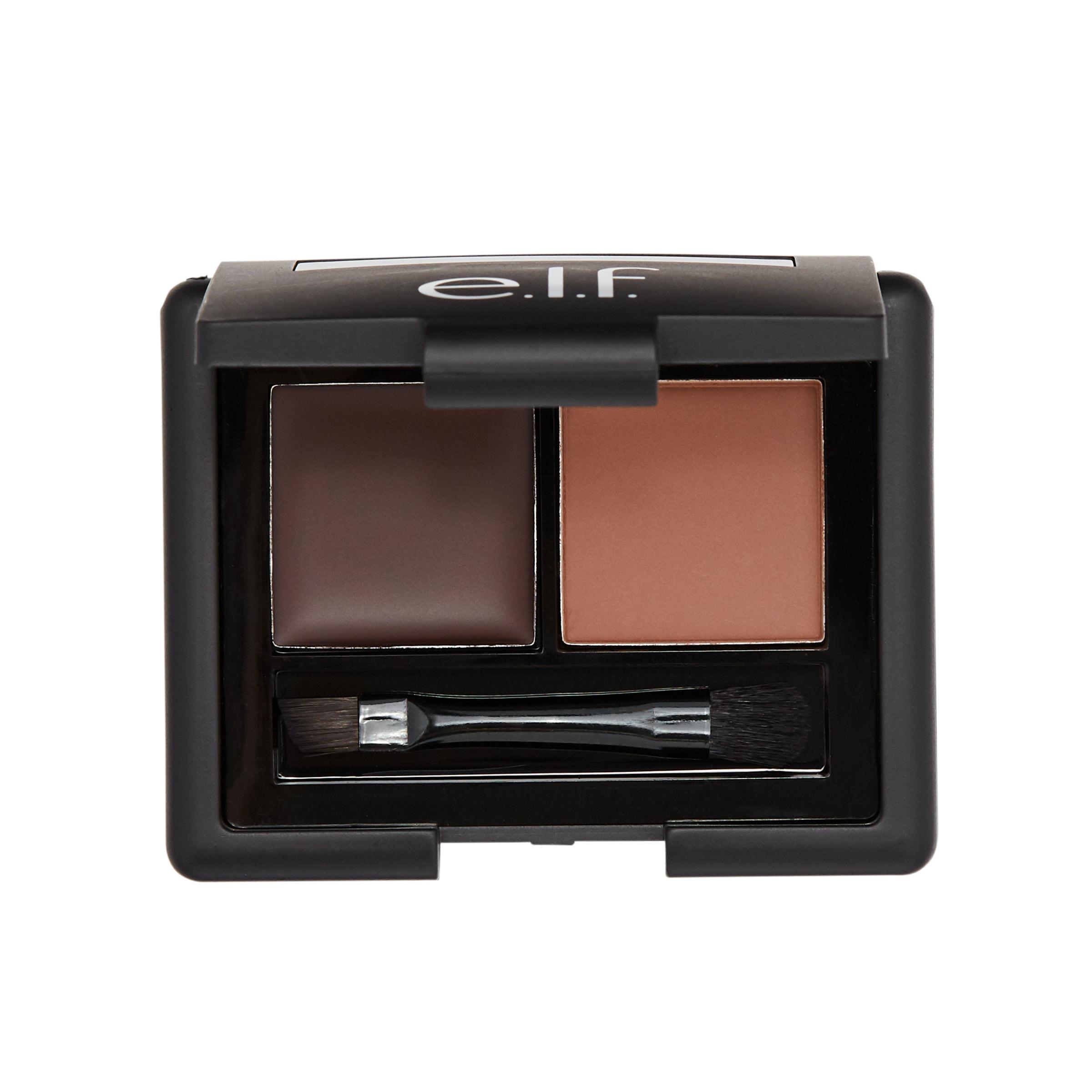 Elf Gel Powder Eyebrow Duo Kit With Brush Medium Kuas Mascara Shadow Anastasia