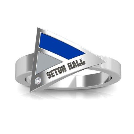 Seton Hall University Diamond Ring In Sterling Silver Design by BIXLER Hall Of Fame Ring
