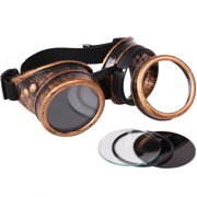 Star Power Steampunk Goggles Costume Accessory, Bronze Black, One-Size