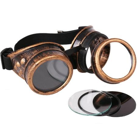 Star Power Steampunk Goggles Costume Accessory, Bronze Black, (Steampunk Goggles Amazon)