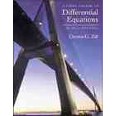 A First Course in Differential Equations : The Classic Fifth (A First Course In Mathematical Modeling 5th Edition)