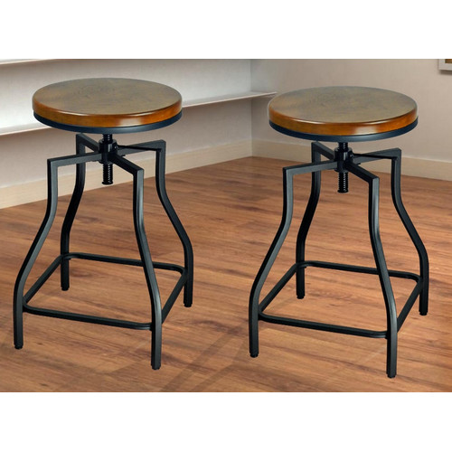 eHemco Adjustable Height Swivel Bar Stool (Set of 2)  sc 1 st  Walmart & eHemco Adjustable Height Swivel Bar Stool (Set of 2) - Walmart.com islam-shia.org
