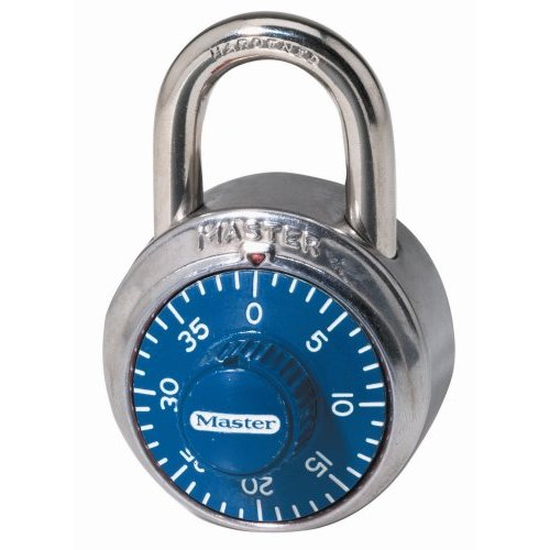 Master Lock -7/8 in (48mm) Wide Combination Dial Padlock; Assorted Colors