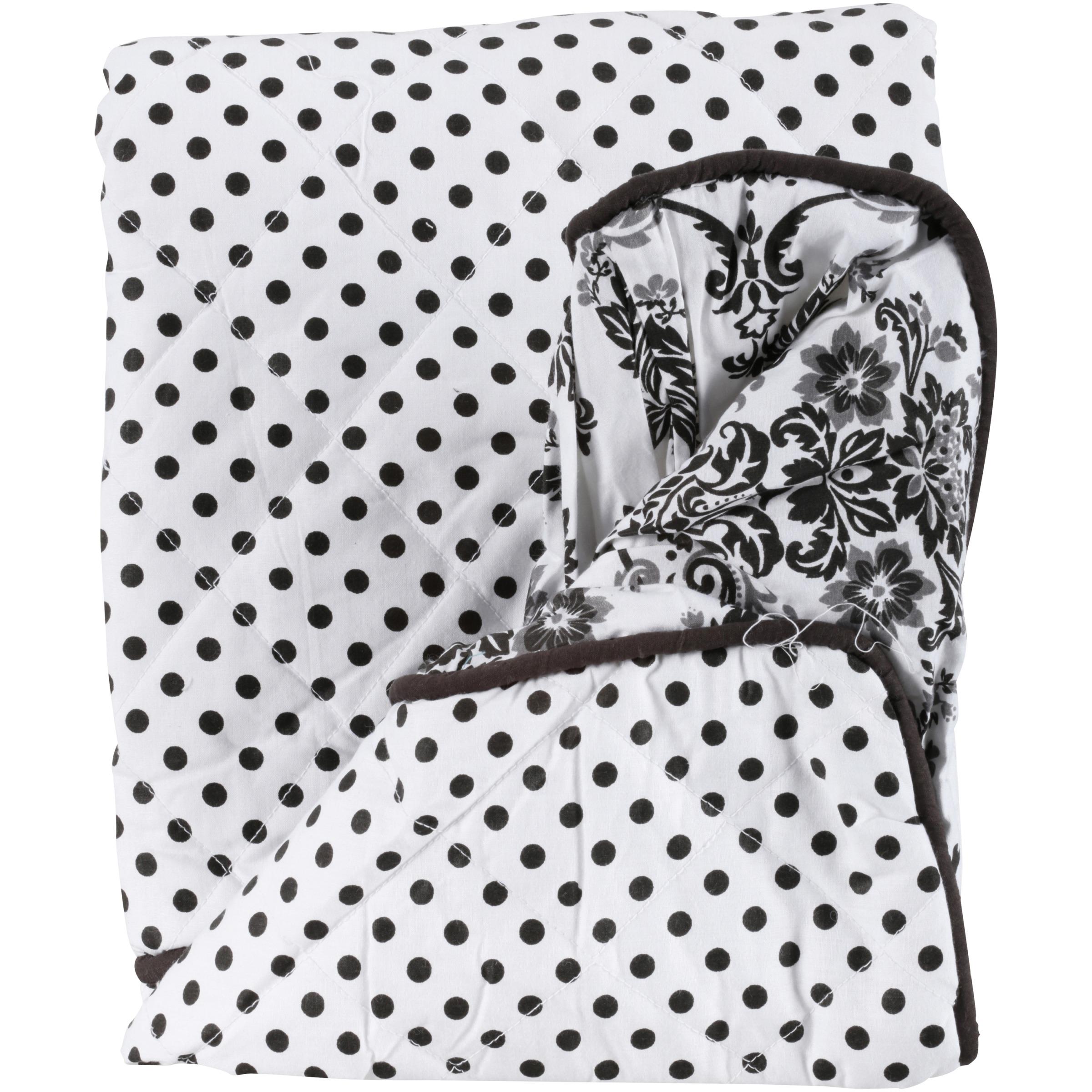 Bacati Black/White Polka Dots & Stripes Changing Pad Cover