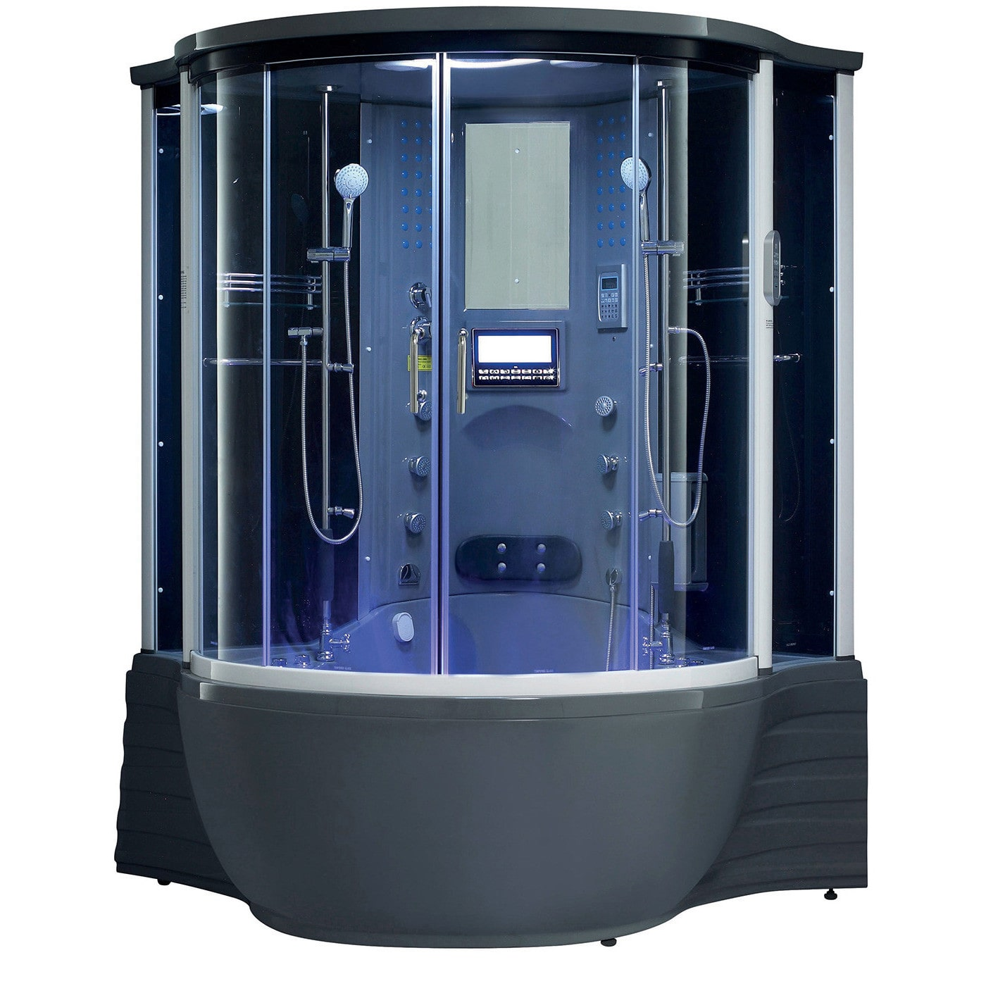 Maya Bath Florence Acrylic/Glass/Stainless Steel Steam Shower Sauna ...