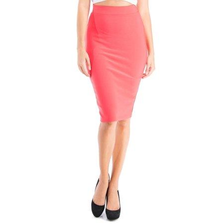 Salt Tree Women's Neoprene Long Line Skirt