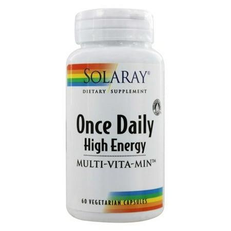 Once Daily High Energy Multi-Vita-Min By Solaray - 60 (Best Solaray Multivitamin)