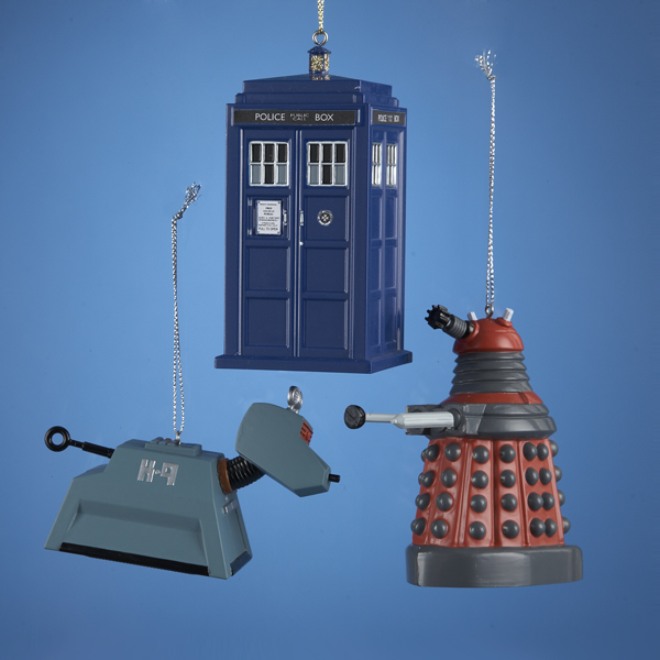 """Pack of 24 Various Dr. Who Characters Christmas Ornaments 4.5"""""""