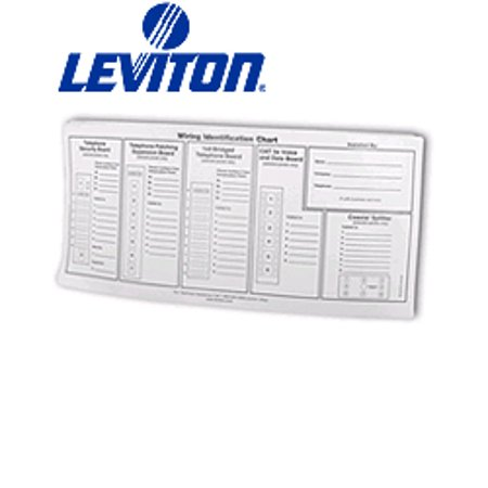 Leviton 47603-IDS Replacement Port ID Wiring Identification Chart Labels for AHT - Port Label