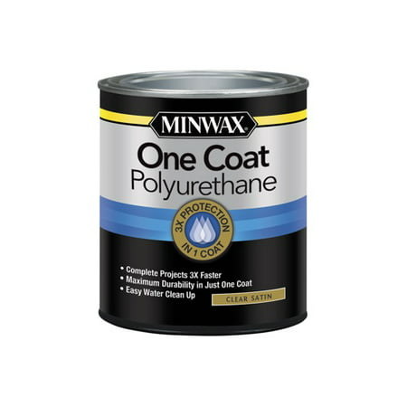 Minwax® One Coat Polyurethane Clear, Satin, 1-Qt