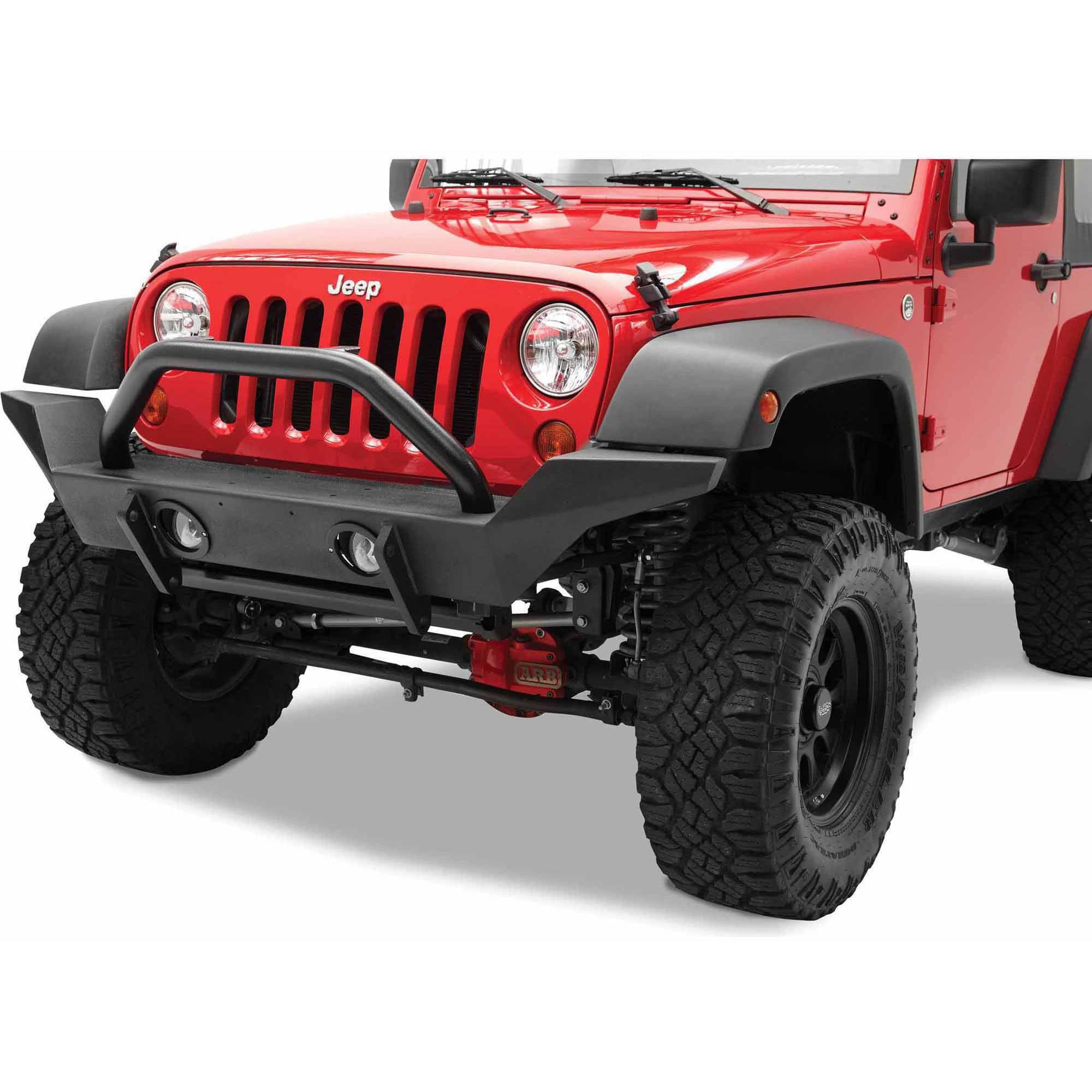 Bestop 44918-01 Wrangler 2-Door/4-Door Highrock 4X4 Front Bumper, High-Access Design