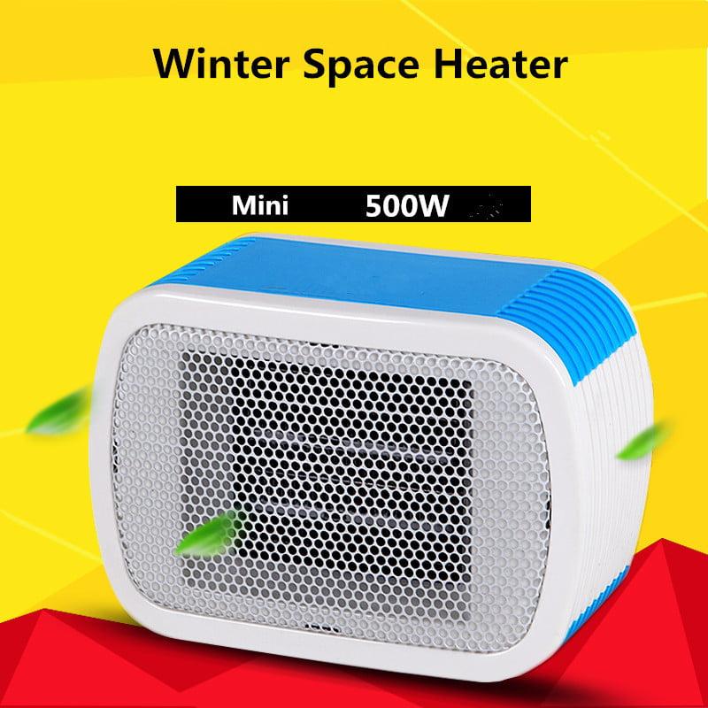 Portable 500W Electric Mini Heater Fan Desktop Winter Warm Convector Stylish Desktop