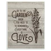 Go To The Garden Wall Plaque Art