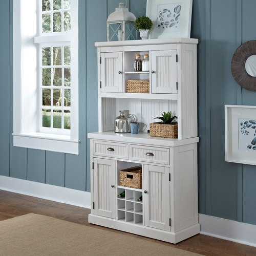 Home Styles Nantucket Buffet and Hutch in White - Walmart.com