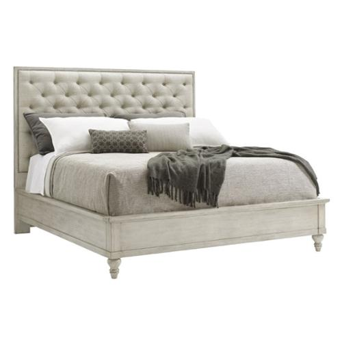 Lexington Oyster Bay Sag Harbor Queen Upholstered Bed in Silverlake