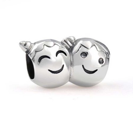 Bff Happy Brother Sister Best Friend Family Charm Bead For Women Teen 925 Sterling Silver Fits European