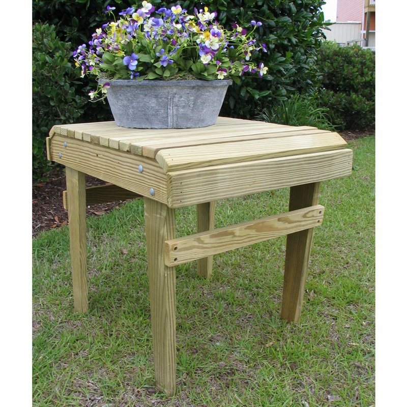 Weathercraft Designers Choice Yellow Pine Side Table - Natural Finish