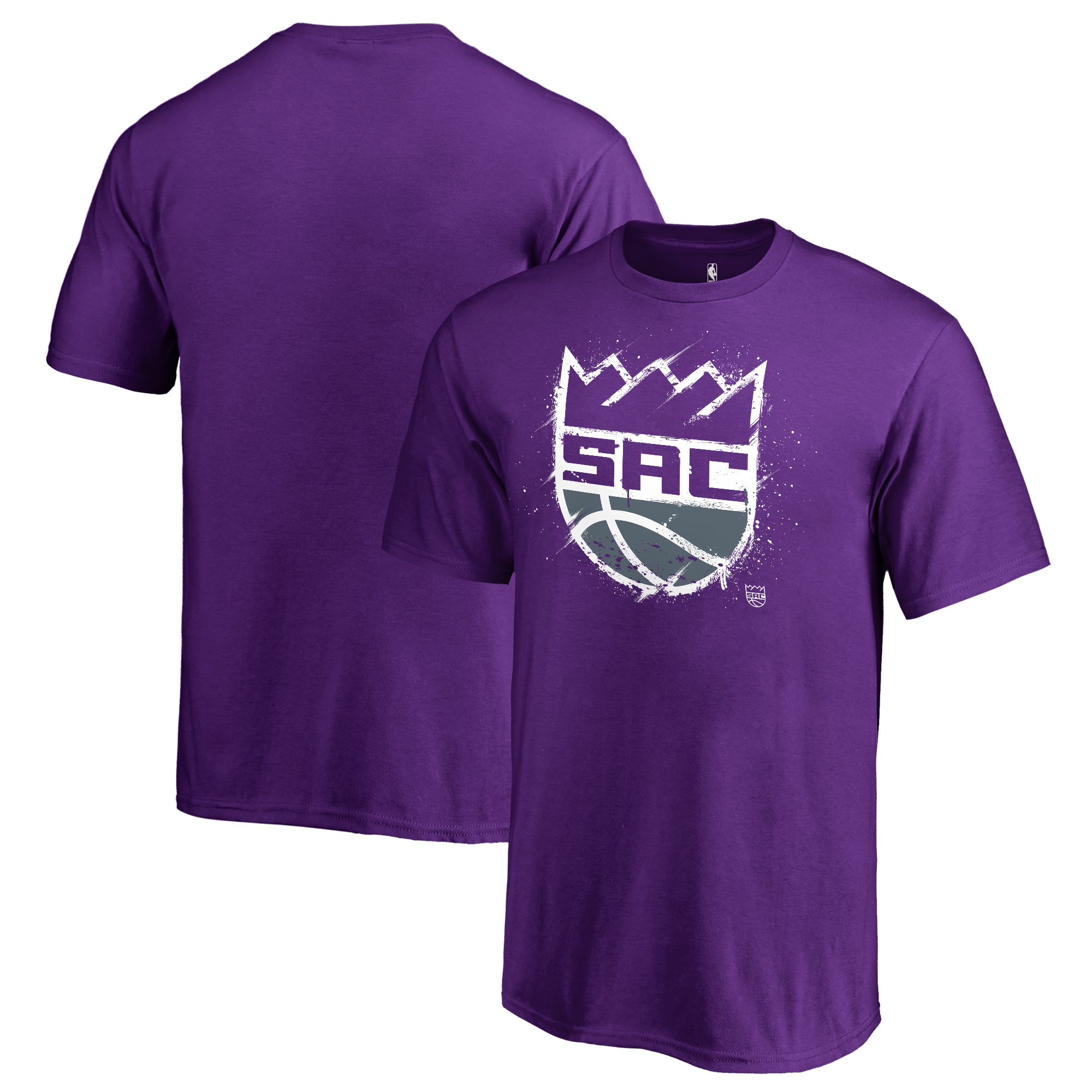 Sacramento Kings Fanatics Branded Youth Splatter Logo T-Shirt - Purple