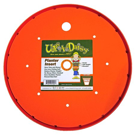 """Image of """"Ups-A-Daisy Round Planter Lift Insert - 10"""""""", 10 in. Top width x 10 in. Bottom width x 0.75 in. Height x 10 in. Length By Bloem"""""""