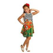 Little Girls Black White Print Fiona Designer Spring Dress 4