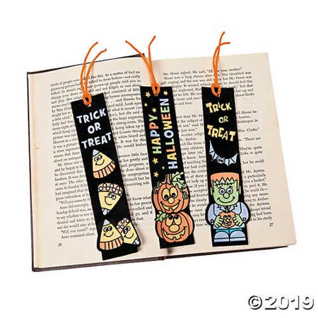 12 Pack ~ Color Your Own Fuzzy Halloween Bookmarks](Halloween Bookmarks To Make)