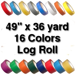 Vinyl Marking Tape 49 inch x 36 yard LOG - Dark Brown